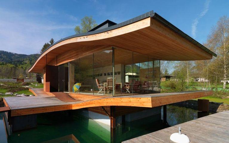 """""""autarc homes"""" schwimmende + drehbare Passivhaus"""